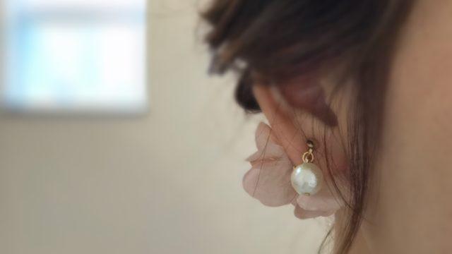『コットンパールと花びら』のピンクベージュ