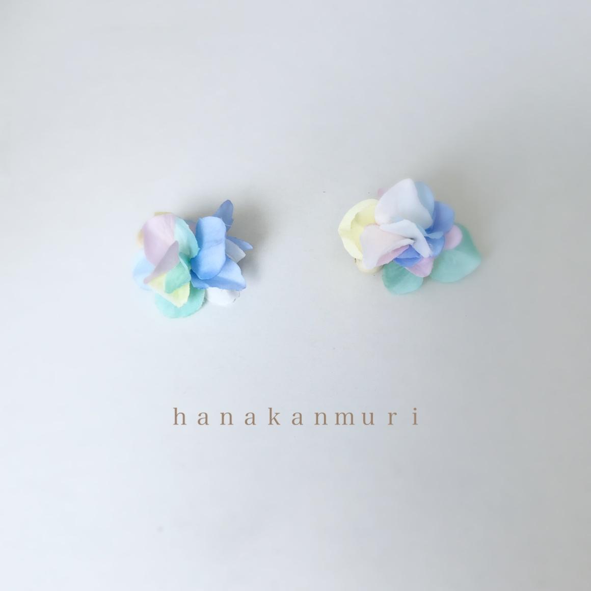 コットンパールと花びらピアスのキャンディーの画像2