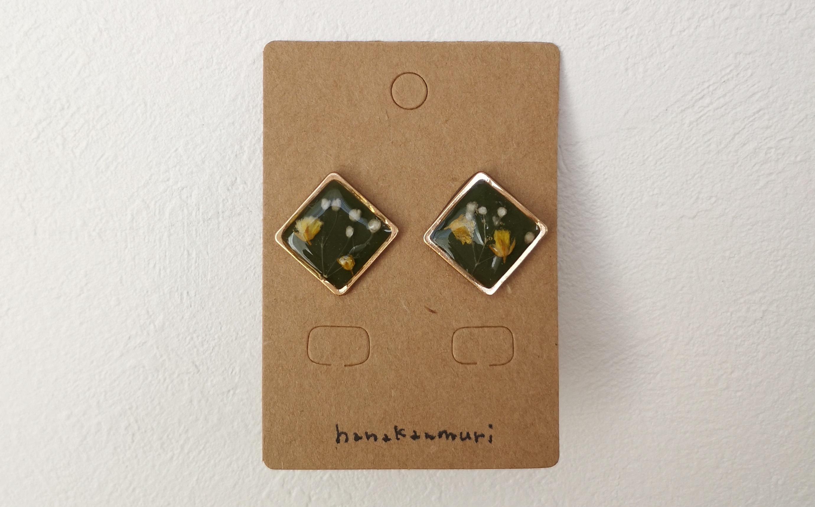 植物図鑑ピアスの画像2、ハーウェイ上下カット